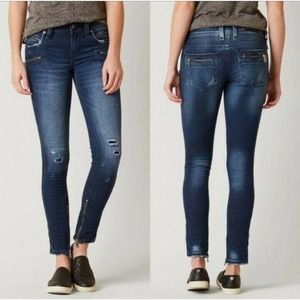 Rock Revival Moto Skinny Camille Distressed Jeans